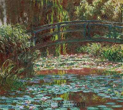Monet | Japanese Bridge at Giverny (Water Lily Pond), 1900