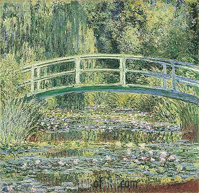 Water Lily Pond and Japanese Bridge, 1899 | Monet| Painting Reproduction