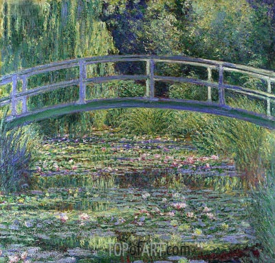 Water Lily Pond, (Symphony in Green), 1899 | Monet| Painting Reproduction