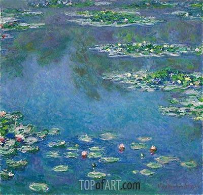 Water Lilies, 1906 | Monet| Gemälde Reproduktion