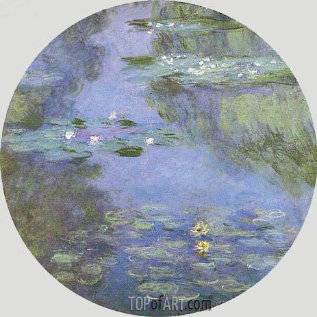 Water Lilies, 1908 | Monet| Gemälde Reproduktion