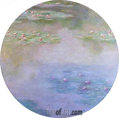 Water Lilies, Nympheas, 1907 | Monet| Painting Reproduction