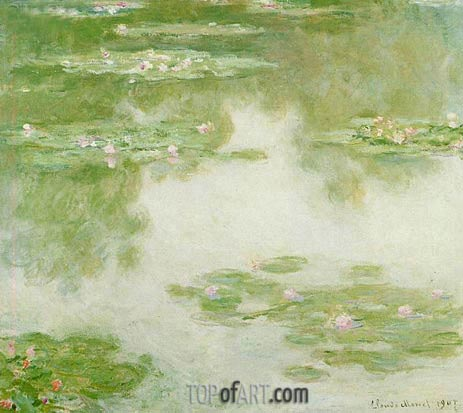 Water Lilies, Water Landscape, 1907 | Monet| Painting Reproduction