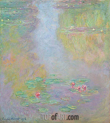 Water Lilies, 1908 | Monet| Painting Reproduction