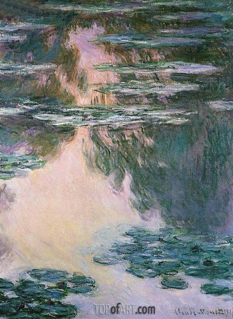 Water Lily Pond, 1907 | Monet| Painting Reproduction
