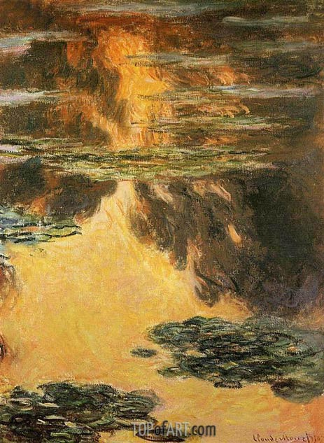 Water Lilies, 1907 | Monet | Gemälde Reproduktion