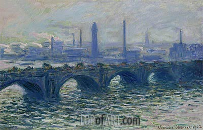 Waterloo Bridge, Misty Morning, 1902 | Monet | Gemälde Reproduktion