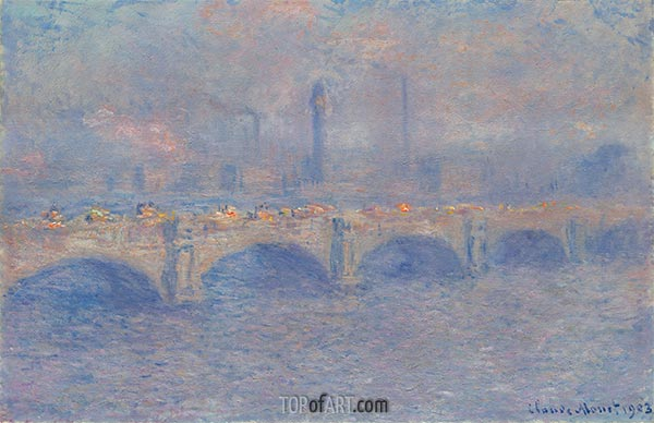 Monet | Waterloo Bridge, Sunlight Effect, 1903