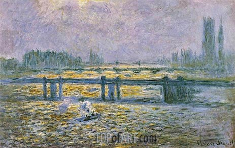 Charing Cross Bridge, Reflections on the Thames, c.1901/04 | Monet| Gemälde Reproduktion