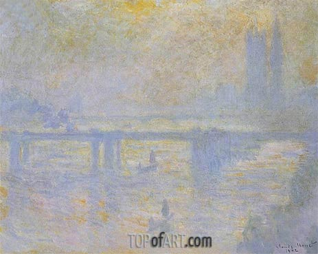 Charing Cross Bridge, 1902 | Monet| Painting Reproduction