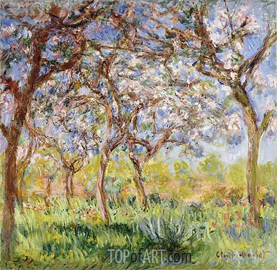 Spring at Giverny, 1900 | Monet| Painting Reproduction