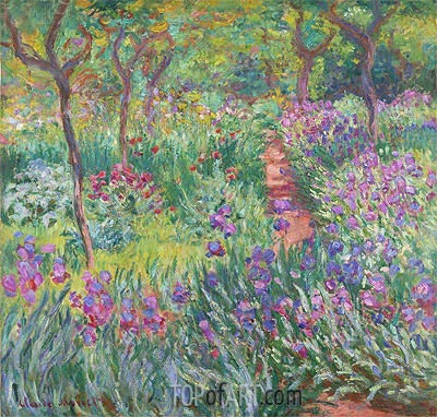 The Artist's Garden at Giverny, 1900 | Monet | Painting Reproduction