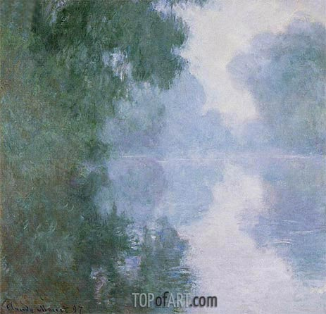 The Seine at Giverny, Morning Mists, 1897 | Monet| Painting Reproduction