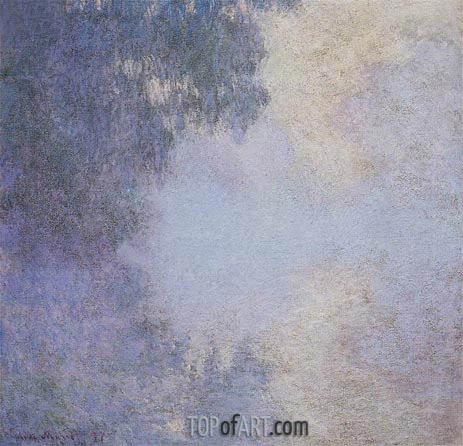 Morning on the Seine, 1897 | Monet| Painting Reproduction