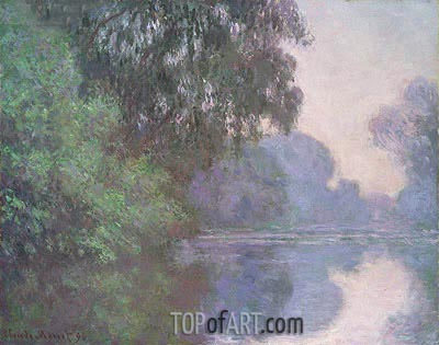Branch of the Seine near Giverny, 1896 | Monet| Gemälde Reproduktion