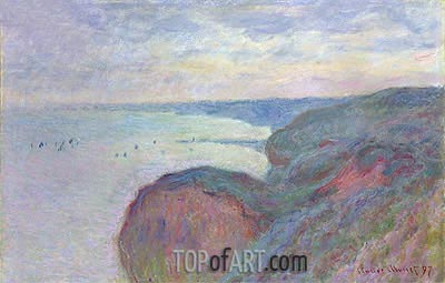 Steep Cliffs near Dieppe, 1897 | Monet | Painting Reproduction