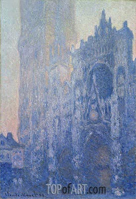 Rouen Cathedral Facade and Tour d'Albane (Morning Effect), 1894 | Monet| Painting Reproduction