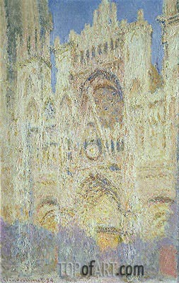 Monet | Rouen Cathedral at Sunset, 1894