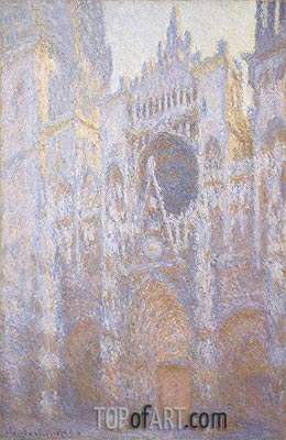 Monet | Rouen Cathedral, West Facade, 1894