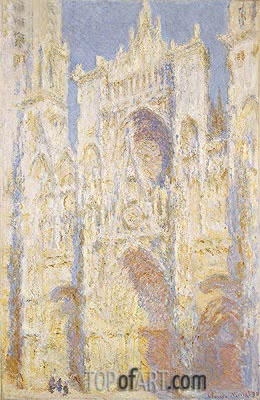 Monet | Rouen Cathedral, West Facade, Sunlight, 1894