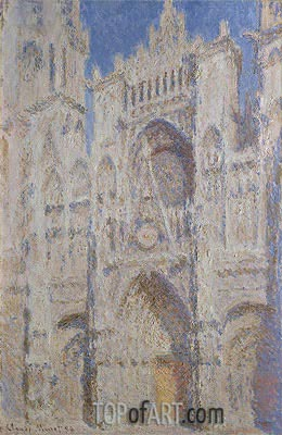 Rouen Cathedral: The Portal (Sunlight), 1894 | Monet | Gemälde Reproduktion