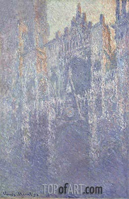 Rouen Cathedral, The Portal, Morning Fog, 1894 | Monet | Gemälde Reproduktion