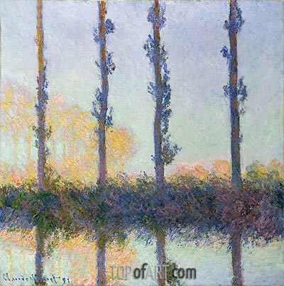 The Four Trees, Poplars, 1891 | Monet | Painting Reproduction