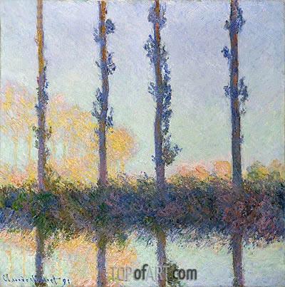The Four Trees, Poplars, 1891 | Monet | Gemälde Reproduktion