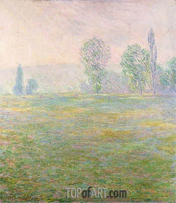 Meadows at Giverny, 1888 | Monet | Gemälde Reproduktion