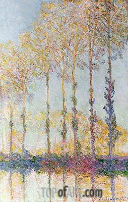 Monet | Poplars on the Bank of the Epte River, 1891