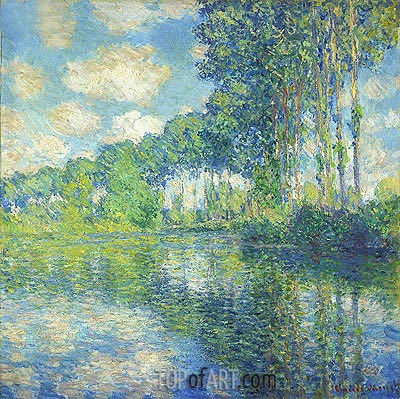 Poplars on the Epte, 1891 | Monet| Painting Reproduction