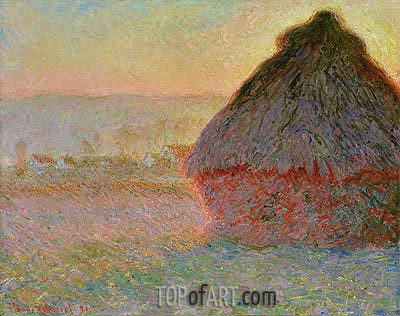Haystack at Sunset, 1891 | Monet | Painting Reproduction