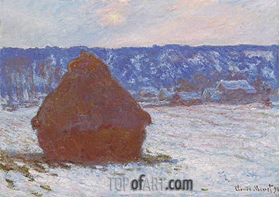 Stack of Wheat (Snow Effect, Overcast Day), 1891 | Monet | Painting Reproduction
