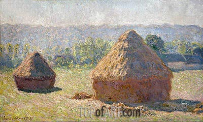 The Haystacks or The End of the Summer at Giverny, 1891 | Monet | Painting Reproduction