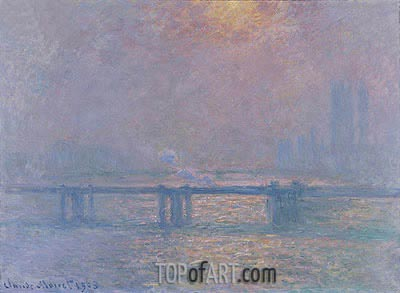 The Thames at Charing Cross, 1903 | Monet | Gemälde Reproduktion