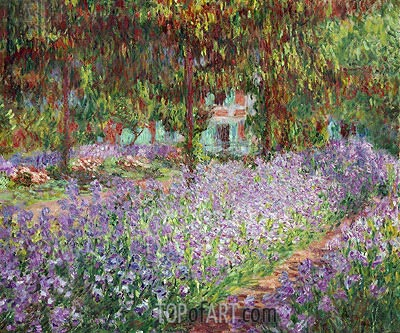 Irises in Monet's Garden at Giverny, 1900 | Monet| Painting Reproduction