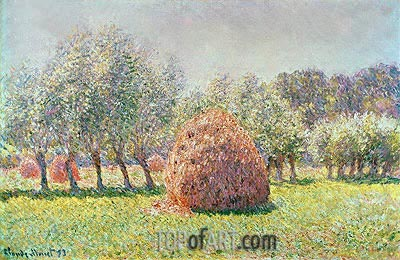 Haystacks, 1893 | Monet| Painting Reproduction