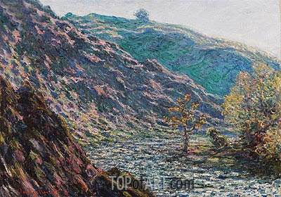 The Petite Creuse River (The Old Tree at the Confluence), 1889 | Monet | Painting Reproduction