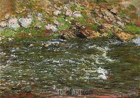 Rapids on the Petite Creuse at Fresselines, 1889 | Monet | Gemälde Reproduktion