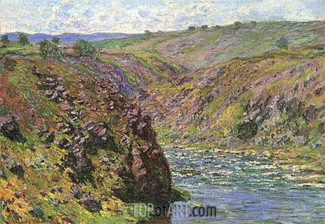 Ravine of the Creuse, Sunlight Effect, 1889 | Monet| Gemälde Reproduktion