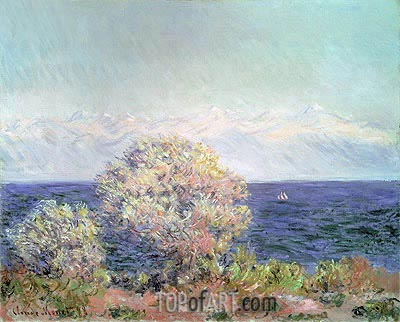Cap d'Antibes, Mistral Wind, 1888 | Monet | Painting Reproduction