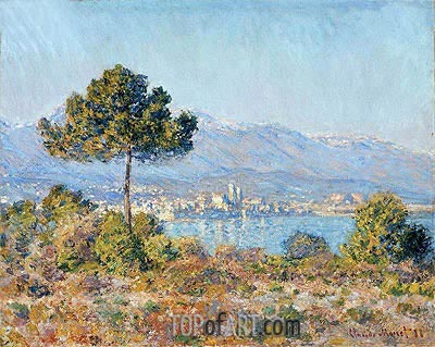 Antibes Seen from the Plateau Notre Dame, 1888 | Monet | Painting Reproduction