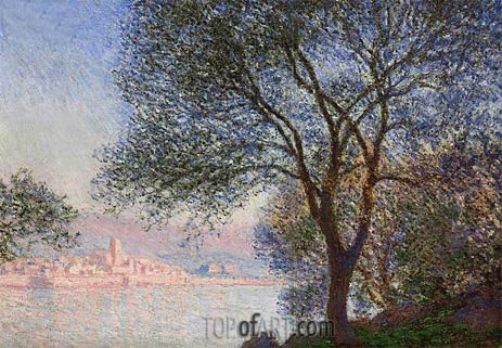 Antibes Seen from the Salis Gardens, 1888 | Monet | Painting Reproduction