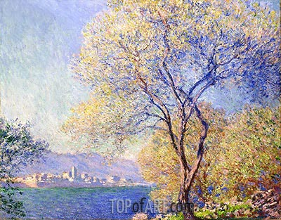 Antibes Seen from the Salis Garden, 1888 | Monet | Painting Reproduction