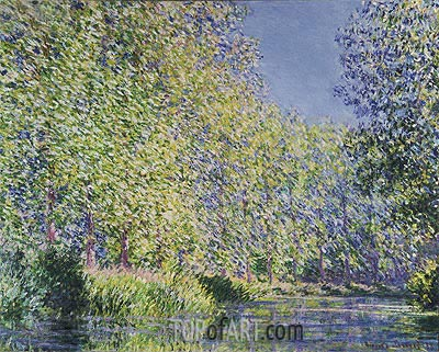 A Bend in the River Epte, Near Giverny, 1888 | Monet | Gemälde Reproduktion