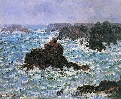 Monet | Belle Ile, Rain Effect, 1886