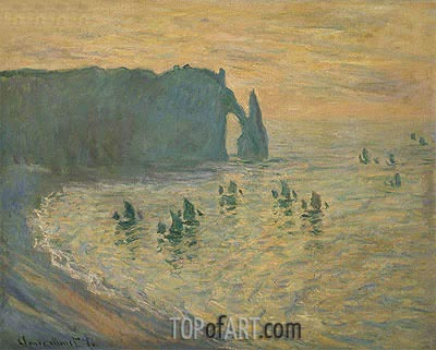 The Rocks, Etretat, 1886 | Monet | Painting Reproduction