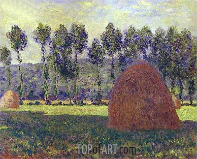 Haystacks at Giverny, c.1884/89 | Monet| Gemälde Reproduktion