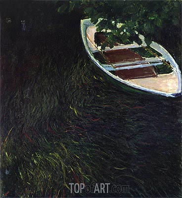The Empty Boat, c.1887/90 | Monet | Painting Reproduction