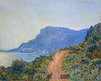 The Corniche near Monaco, 1884 | Monet | Painting Reproduction